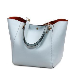 Image 4 - Women Leather Handbags Big Women Bag 2PCS/Set High Quality Female Bags Trunk Tote Ladies Large Shoulder Bag