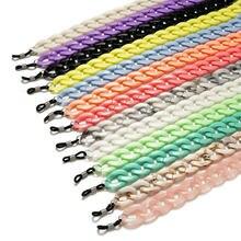 Мода 2020 акриловые очки для чтения конфетных цветов цепочка