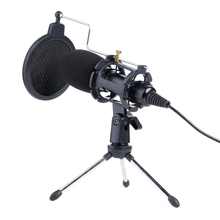 Video Microphone Kit USB Plug Home Stereo Condenser MIC Desktop Tripod for PC YouTube Video Skype Chatting Gaming Recording