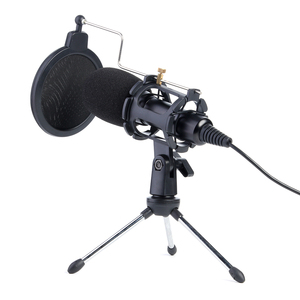 Image 1 - Video Microphone Kit USB Plug Home Stereo Condenser MIC Desktop Tripod for PC YouTube Video Skype Chatting Gaming Recording