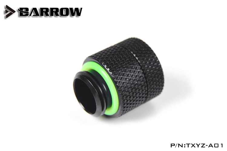 Barrow TXYZ-A01, 13mm Male To Female ExtenderRotary Fittings, G1 / 4 Male To Female Water Cooling Fittings