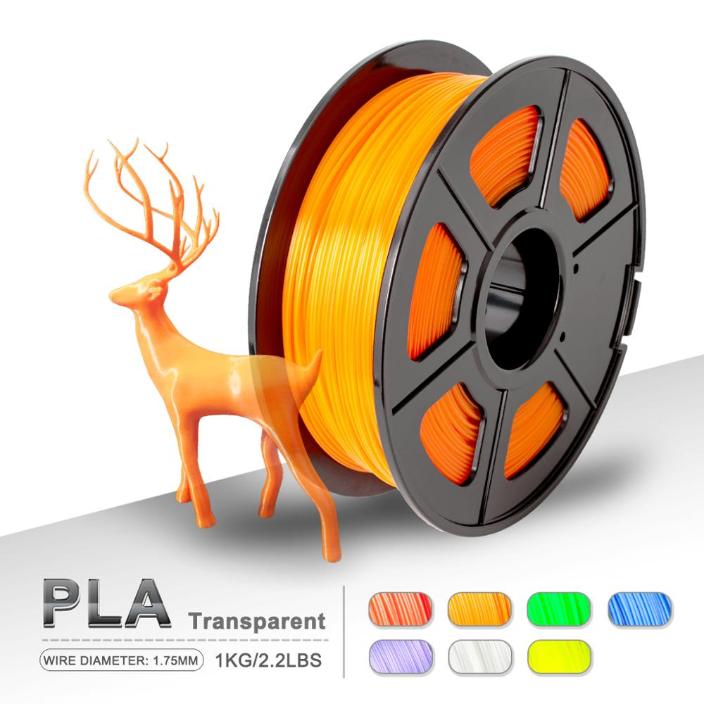 3D Printer PLA Filament Transparent 1KG/ Spool 1.75mm PLA Filament Printing Material Supplies For Drawing Pens Consumables