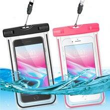 Için NUU A6L G3 M3 sualtı işıltılı telefon kılıfı kuru çanta su geçirmez kılıf kapak için NUU cep G1 G2 ile boyun askısı