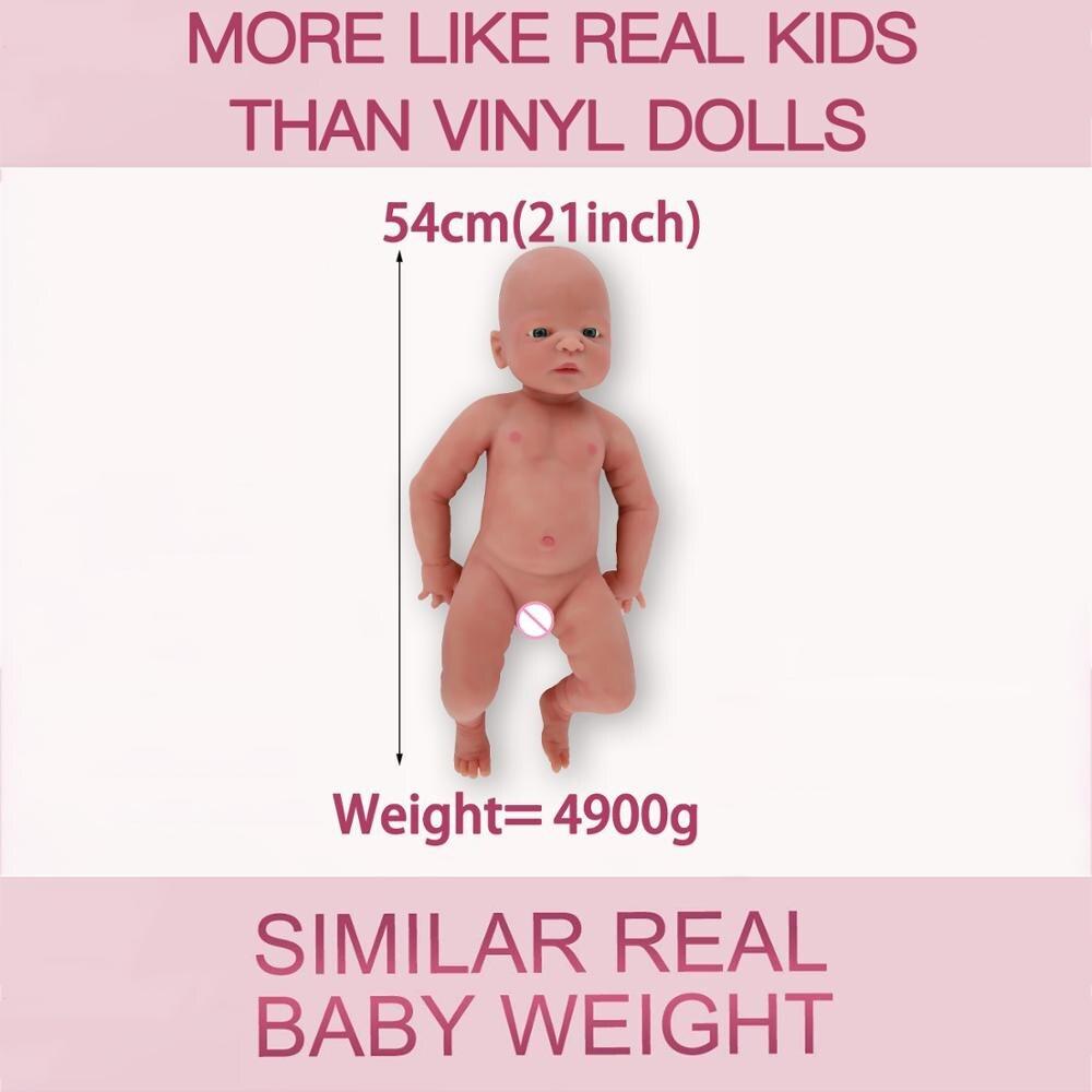 IVITA WG1511, 54cm, 4,9 kg, cuerpo completo de niña, muñecas Reborn de silicona de alta calidad, baño de bebé, el mejor regalo, juguetes para niños - 2