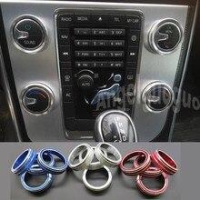 Botão rotativo para ar condicionado automotivo, 4 pçs/lote, para volvo s60 v60 xc60 s60 v40 interruptor de controle de calor maçaneta do botão