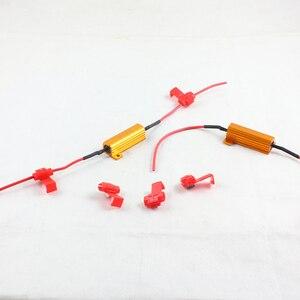 50pc samochodów stylizacji auto części do mocowania samochodowa lampa LED DRL mgła kierunkowskaz lampa żarówka 50W 6Ohm rezystor obciążenia
