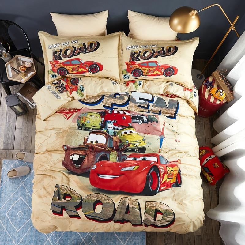 Disney Lightning McQueen Cars 95 Hulk Babies Bedding Set Cotton Kids Boys Children Bedroom Decories Giift Duvet Cover Twin Queen