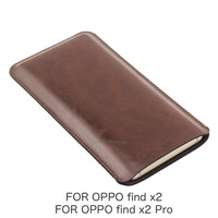 Findx2 Universal Filet holster Telefon Gerade leder fall retro einfache stil beutel für FÜR OPPO finden x2 Pro finden x2 telefon tasche