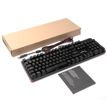 LESHP USB Проводная 105 клавиша с подсветкой профессиональная игровая офисная RGB механическая клавиатура с светодиодный регулируемой подсветкой
