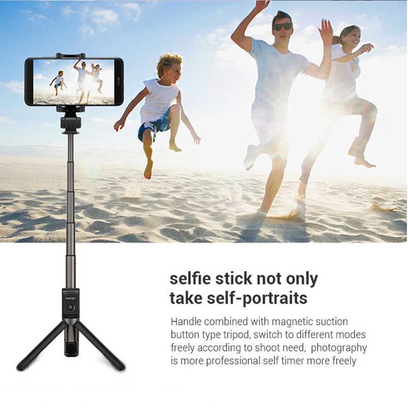Original Huawei Honor AF15 Bluetooth Selfie bâton trépied Portable sans fil télécommande monopode tenu dans la main pour iOS téléphone Android