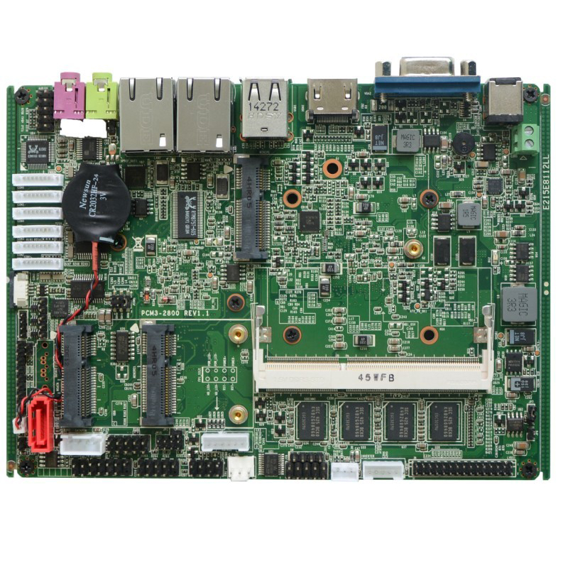 Mini ITX Industrial Computer Motherboard With Atom N2800 1.86GHz Processors