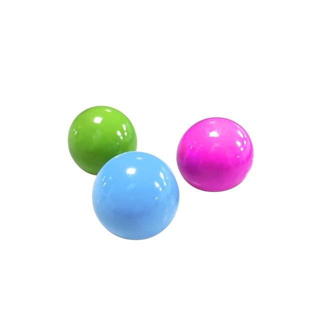 45mm frenma 4pcs Deckenwand klebrig Leuchtst/äbe B/älle Stressabbau Spielzeug Dekompression Leuchtender Stick Ball Spielzeug Set Stick Wandball