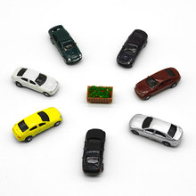 20pcs 1/100 scale model color cars toys miniature painted transportations for diorama tiny railway road street scene layout kits цена и фото