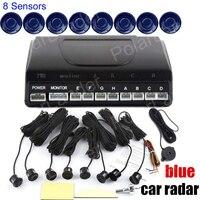 12V Detektor System Kit Anzeige Sonde Auto Reverse Backup Parkplatz Sensor 8 Sensoren Ton Alarm BEBE sound Alarm
