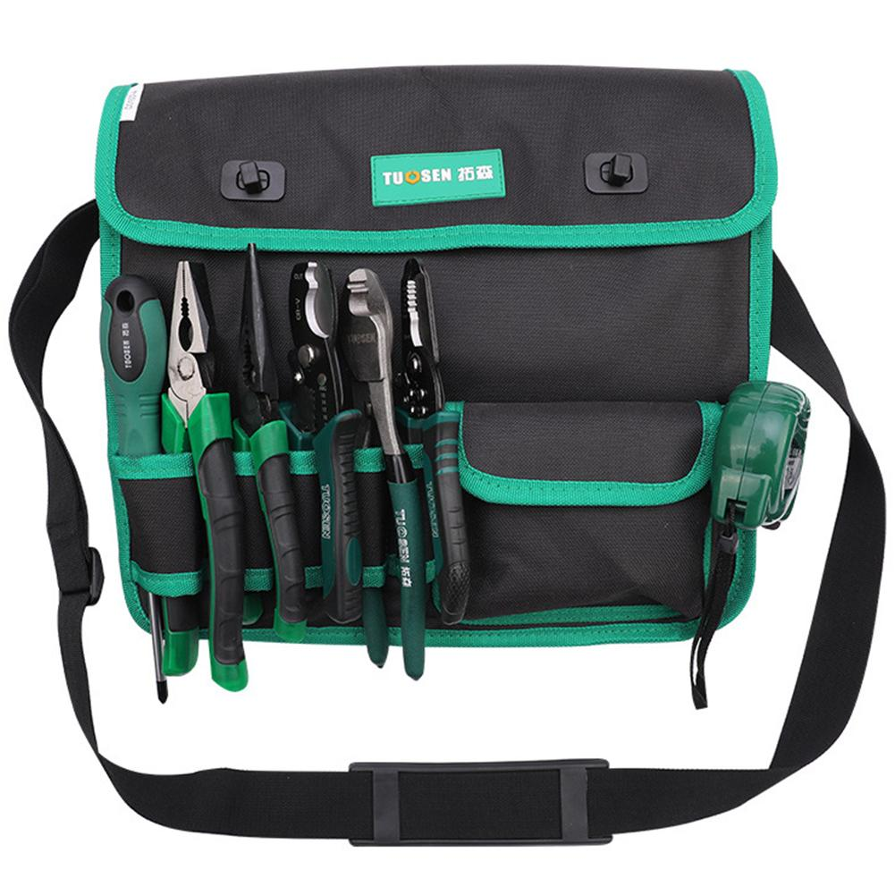 Tuosen Oxford Cloth Waist Pack Hammers Pliers Pouch Electrician Storage Tool Bag Waterproof Oxford Cloth Not Easy To Wet
