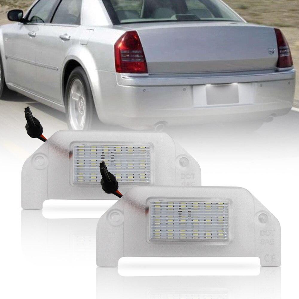 Iluminação para carro, fonte de luz para chrysler 300 05-14 sebring 07-10 led 2 peças