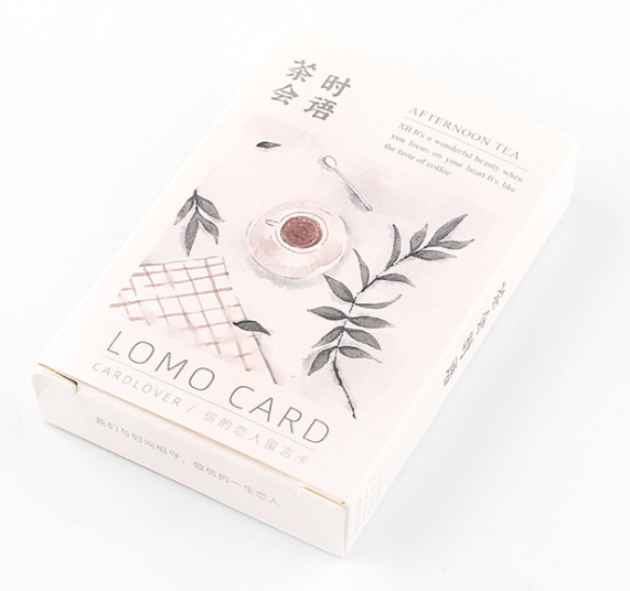 52mm*80mm Tea Words Paper Greeting Card Lomo Card(1pack=28pieces)