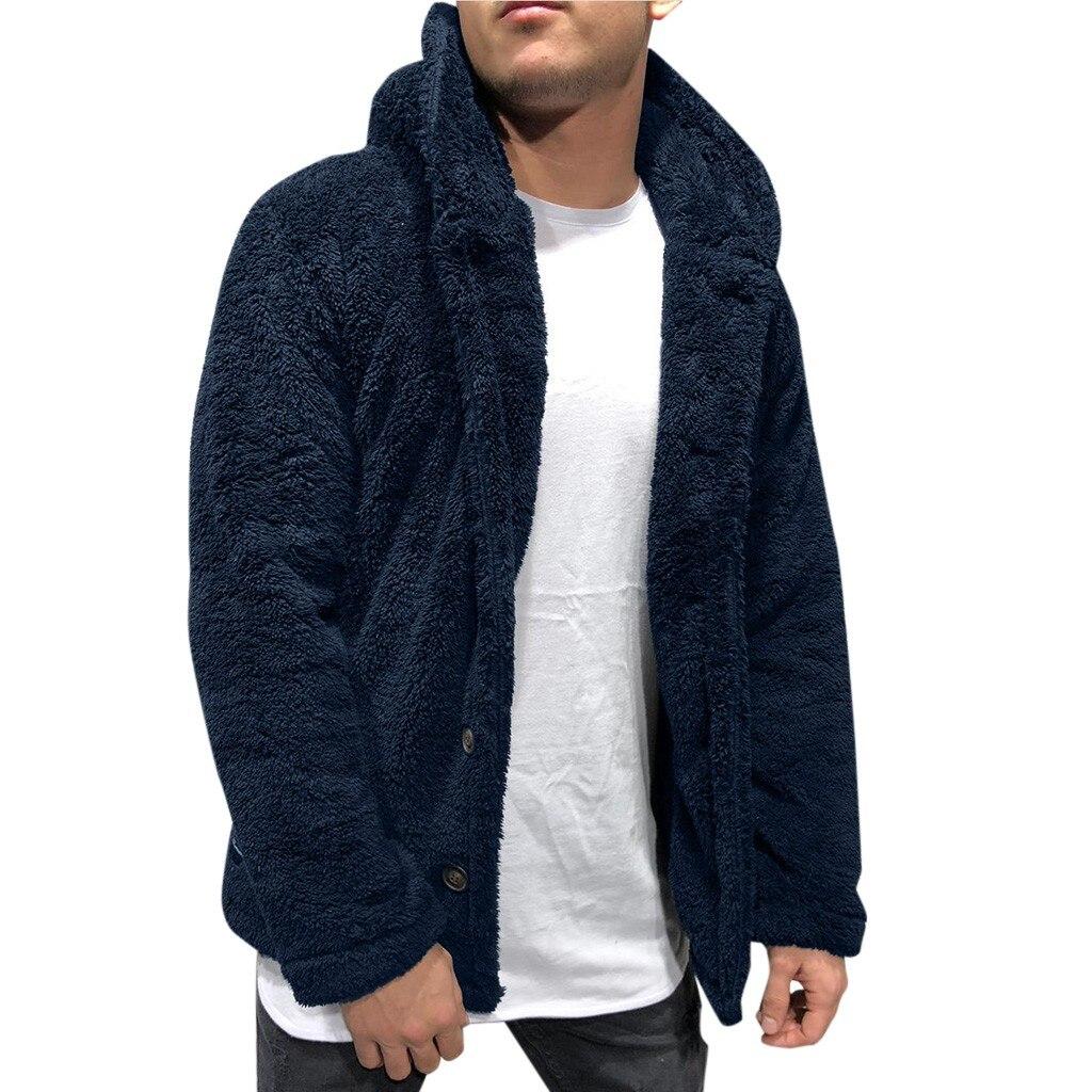 Bomber Jacket Men Winter Thick Warm Fleece Teddy Coat for Mens SportWear Tracksuit Male Fluffy Fleece Hoodies Coat Outwear warm 2