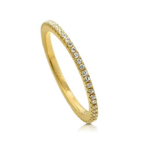 2017 New Classic Pave AAA Cubic Zirconia Sparking Fine 925 Silver Cz Engagament Band Ring