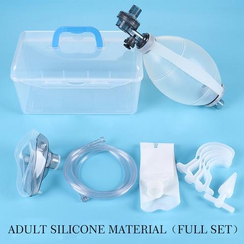 reanimacao manual pvc silicone ventilador de primeiros socorros maquina de oxigenio simples auto ajuda manual