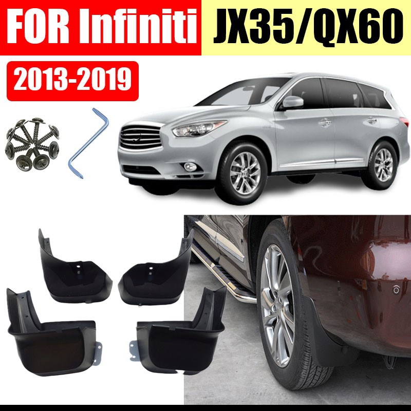 mud flaps FOR <font><b>infiniti</b></font> <font><b>JX35</b></font> <font><b>QX60</b></font> car accessories splash guards car-fenders mud splash mudguard 2011-2019 image