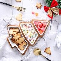 Weihnachten Baum Dessert Platte Set Kuchen Obst Candy Keramik Teller Porzellan Platten Tablett Set