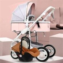 Belecoo 2 в 1 детская коляска высокий пейзаж Двусторонняя коляска складной светильник четырехколесный амортизатор детский тролли