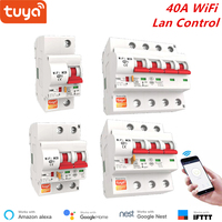 Interruptor de circuito WiFi de 40A, Control remoto inalámbrico inteligente IOT, temporizador, protección de cortocircuito, protección de aislamiento