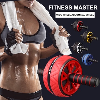 Single Wheel Abdominal Power Wheel  Roller Gym Roller Trainer Training Gym Home Fitness Tools Muscle Exercise Equipment 2020 3