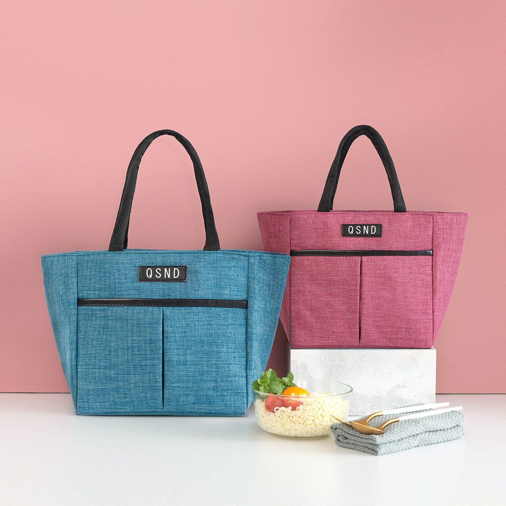 Waterproof Lunch Box Bag Portable Insulated Canvas Tote Thermal Food Picnic High Quality Women Kid Cooler Bag