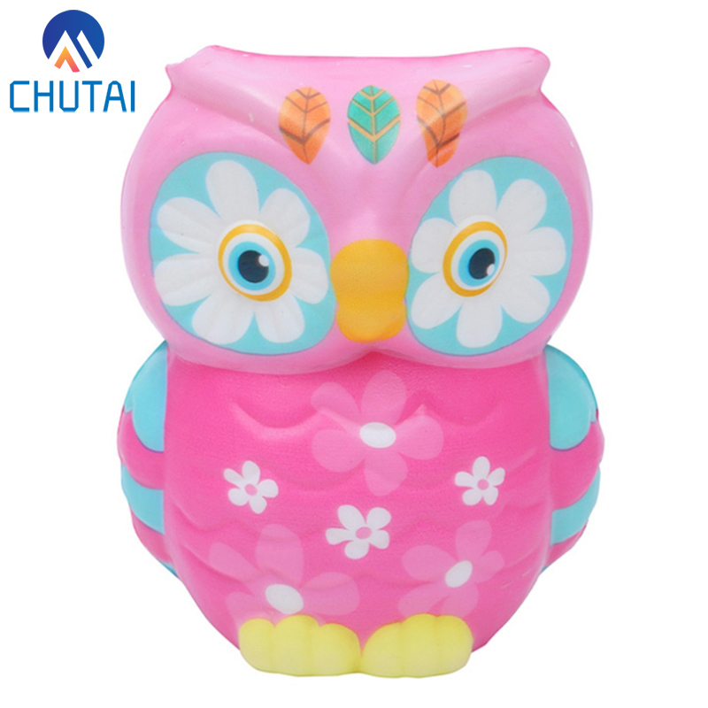 2019 New Cute Colorful Owl Squishy Simulation Animal Slow Rising Squeeze Toy Scented Stress Relief Toys For Kid Party Xmas Gift
