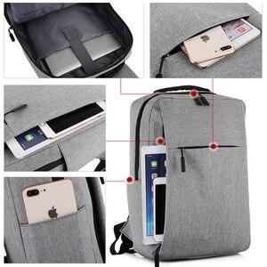 Image 2 - USB Backpack Mens School Bag Rucksack Anti Theft Men Backbag Travel Daypacks Male Leisure Backpack Mochila Women Girl Bag