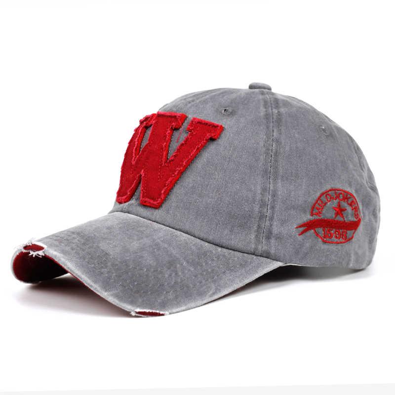 2019 새로운 코 튼 문자 W 야구 모자 레트로 야외 스포츠 모자 여성 뼈 gorras 곡선 된 장착 된 빈티지 아빠 모자 남자에 대 한