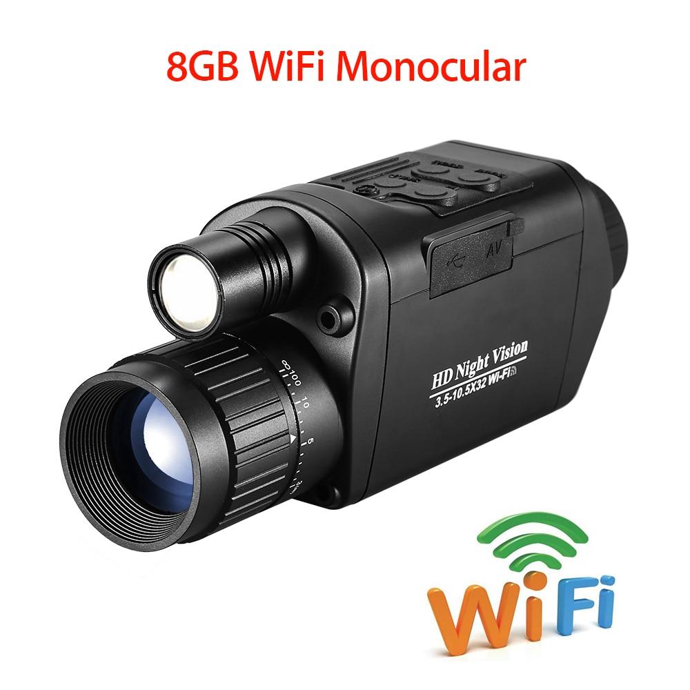 WiFi Digital Vision Night 200M Outdoor Monoculars Telescope Binoculars Photo Video Recording Zoom Optics Infrared Hunting Camera