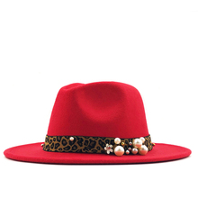 Fashion Wool Women Outback Fedora Hat For Winter Autumn Elegantlady Floppy Cloche Wide Brim Jazz Caps Size 56-58cm