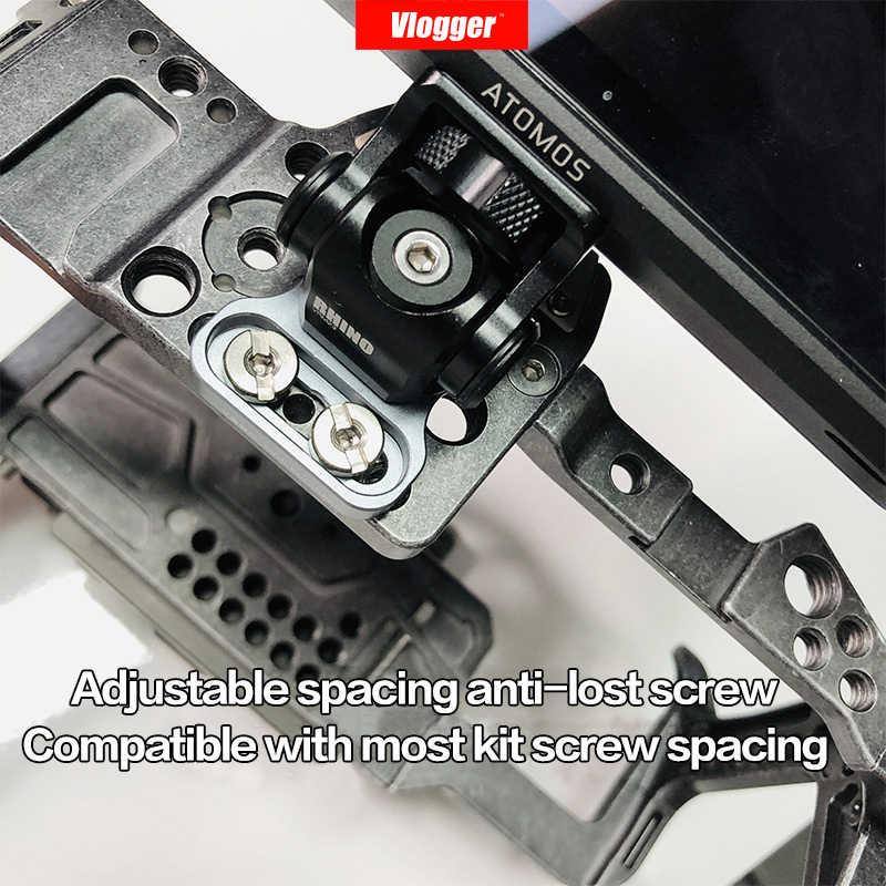 Llave ajustable Vlogger M3, cámara DSLR, Monitor, cabeza de bola, Cable HDMI, rinoceronte, cabezal de amortiguación ajustable