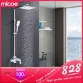 Micoe Bad Dusche Set Badewanne Wasserhahn Wasserhahn Bad Dusche Wasserhahn Set Wasserfall Bad Waschbecken Wasserhahn Kalt-Und Warmwasser Mischer