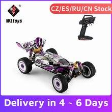 Wltoys 124019 1/12 2.4ghz rc carro 60km/h de alta velocidade carro de corrida chassis de liga de alumínio liga de zinco engrenagem fora-estrada deriva carro rtr