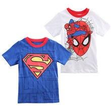 2-7 t dos desenhos animados impressão de manga curta camiseta menino crianças verão blusa roupas crianças topos t traje roupas