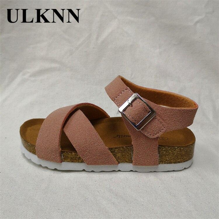 ULKNN Wood CHILDREN'S Sandals Korean-style BOY'S Versatile 2020 Summer New Products Baby Girls Kid's  Shoes Wholesale