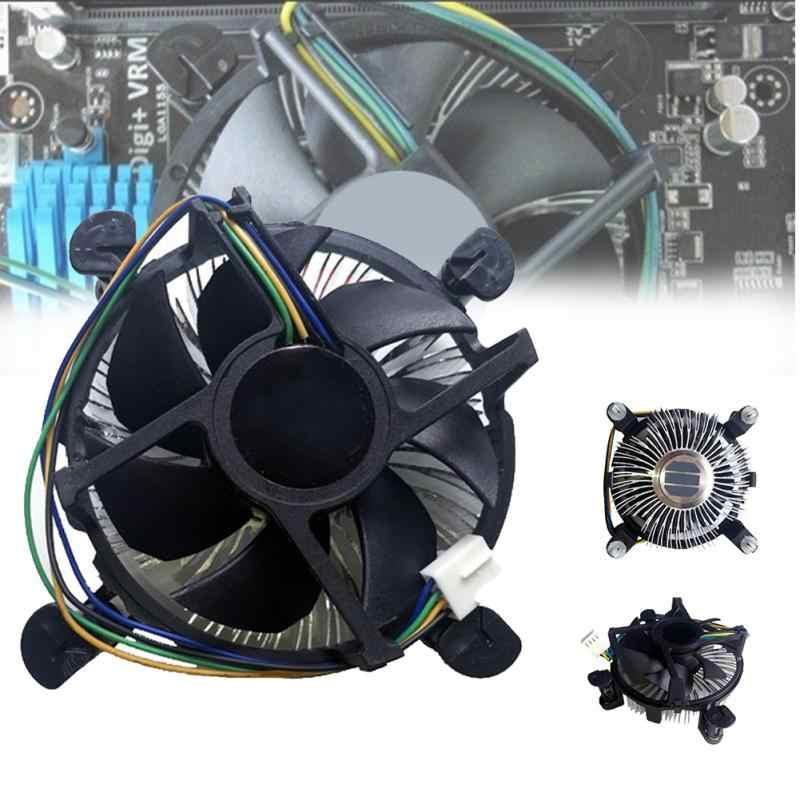 Mute CPU Cooler untuk Inter Semua Model 4 Pin Tenang Cooling Fan LGA 1155 775 LGA1155 LGA775 Inter Tahan Lama game untuk I3 I5 I7