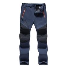Men's winter waterproof pants summer 2019 recreational hiking hiking men's cargo pants sweatpants warm plus-size camping climbin