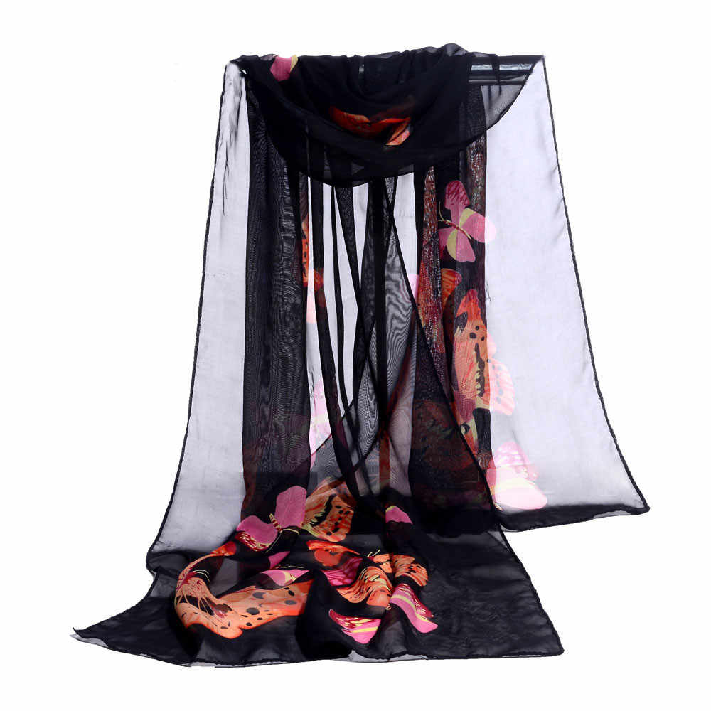 Bufandas de moda para mujer con estampado largo y suave para mujer, bufanda chal para mujer, bufandas de gasa para mujer, chal de verano para la playa # L20