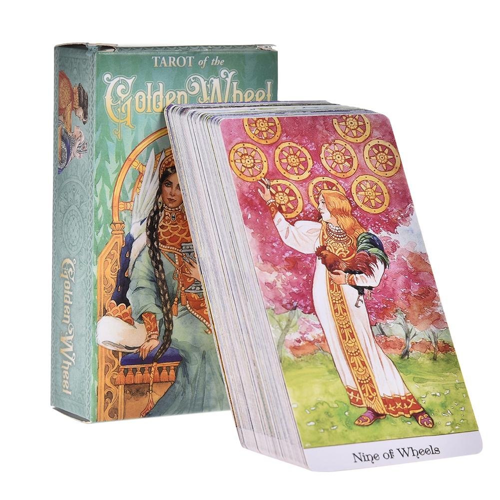 78 Tarot Of The Golden Wheel Tarot Cards Deck Table Game Board Games Guidance Divination Fate Oracle English Party Playing Card