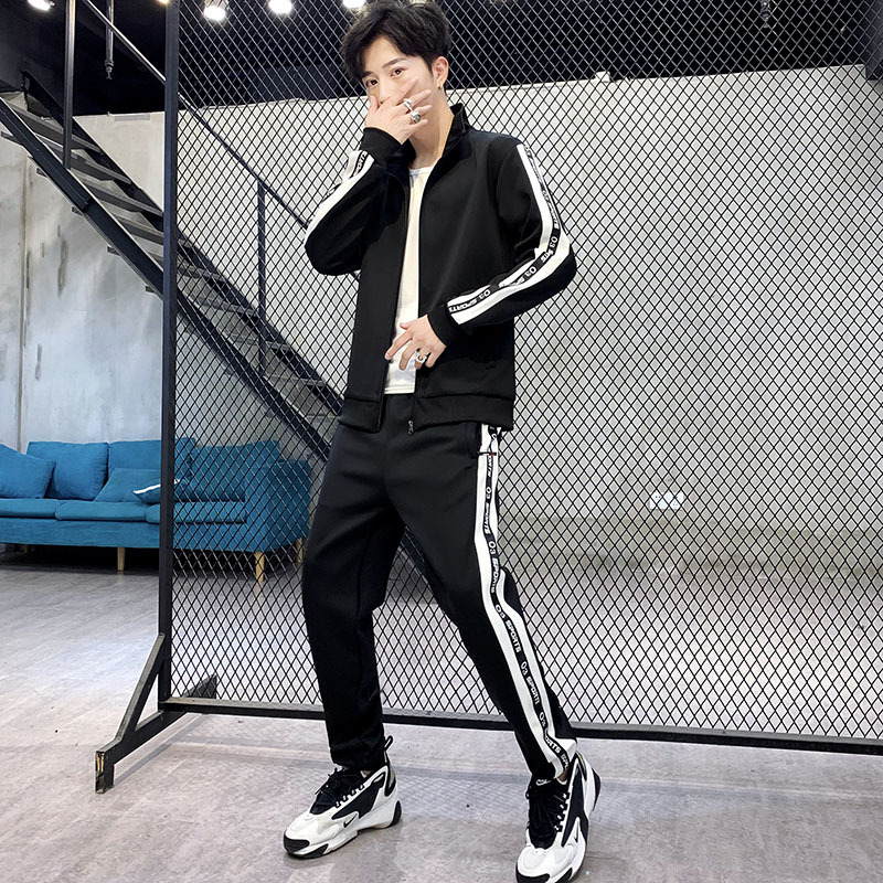2019 New Style Spring And Autumn Fashion Handsome Casual Pants Sports Set Autumn Hoodie Hooded Set Men's Large Amount Favorably