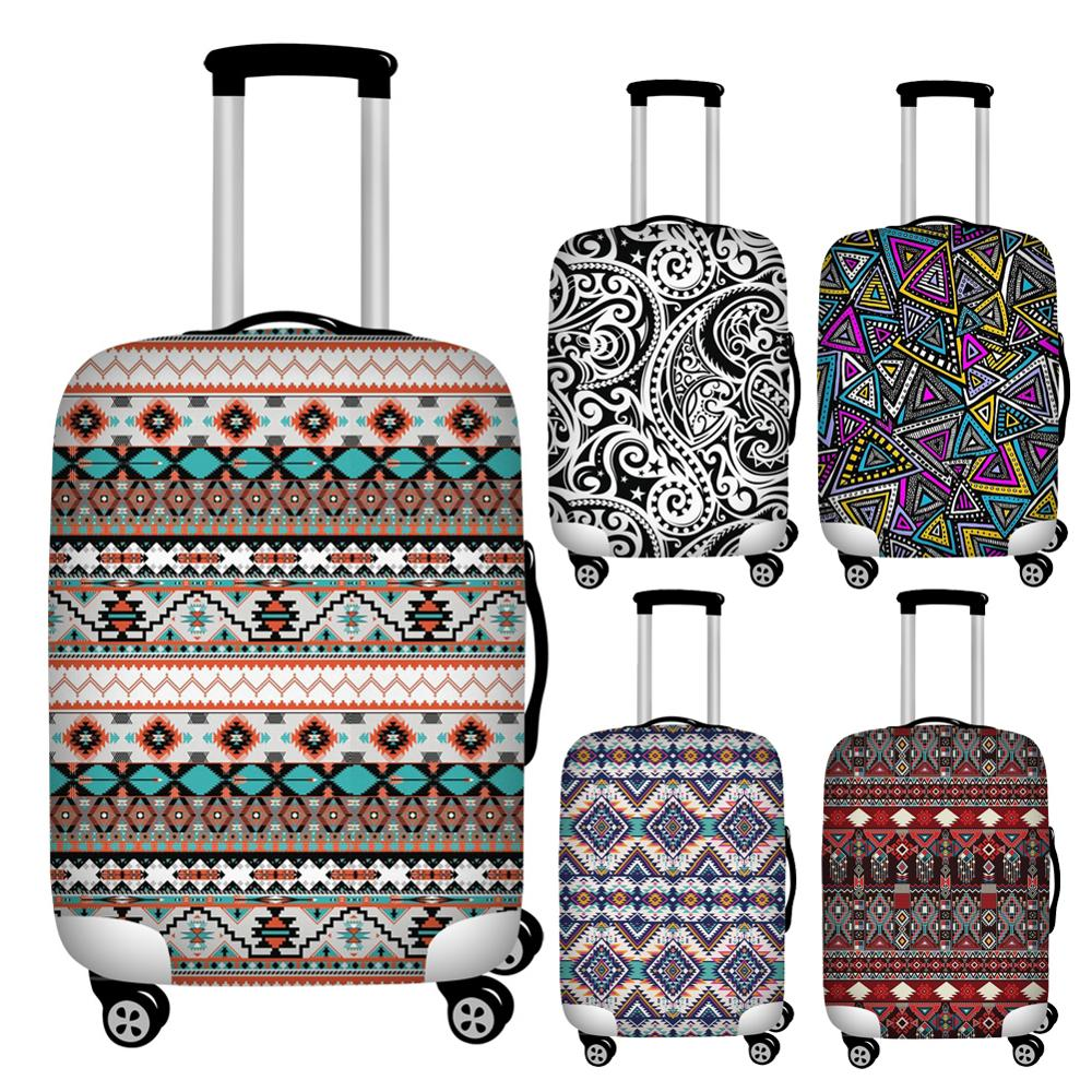 Twoheartsgirl Dustproof Polynesian Travel Suitcase Protective Dust Covers Elastic 18-32inch Luggage Cover Baggage Covers