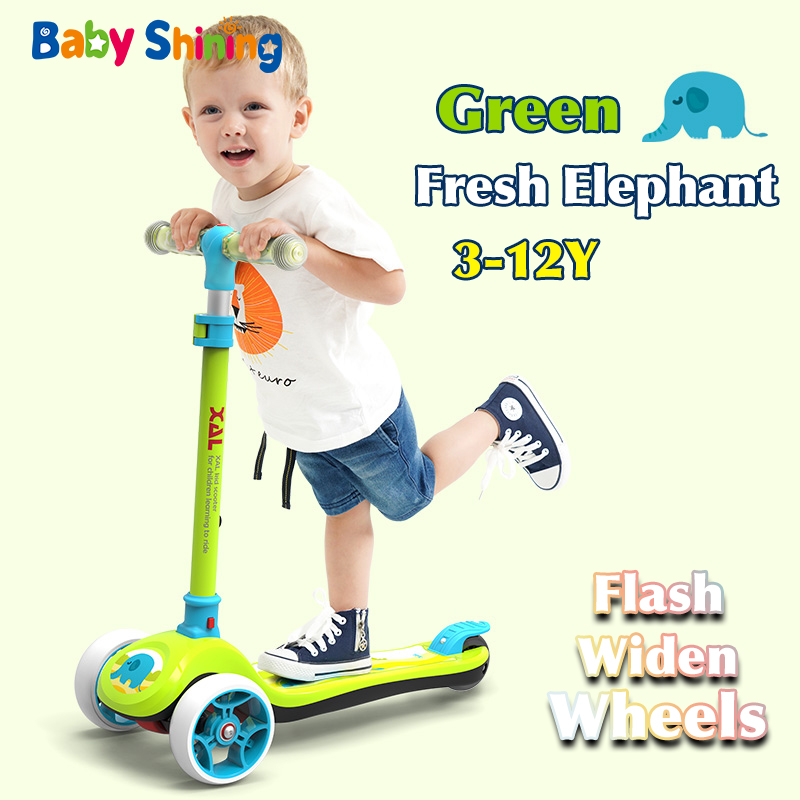 Baby Shining Children Scooter 3-12Y Baby Flash-Wheel Bicycle Kids Toys Balance Bike Kickboard For Boy Girl Attractions Gift