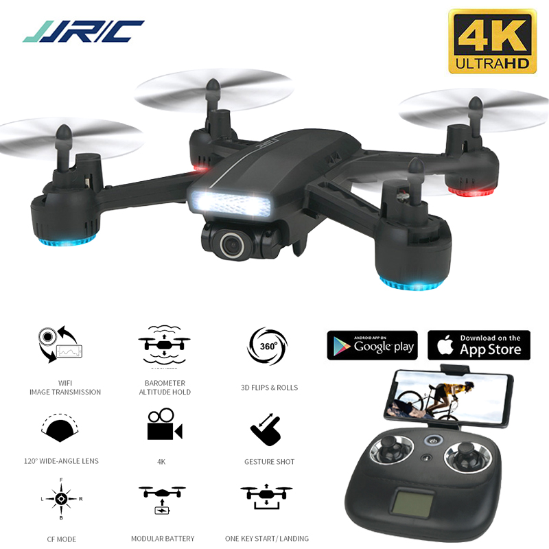 JJRC Dron 4K Drone with Camera HD Wide-Angle Self-Stabilizing RC Drone WiFi FPV Dropship Global Profissional Rc Quadrocopter