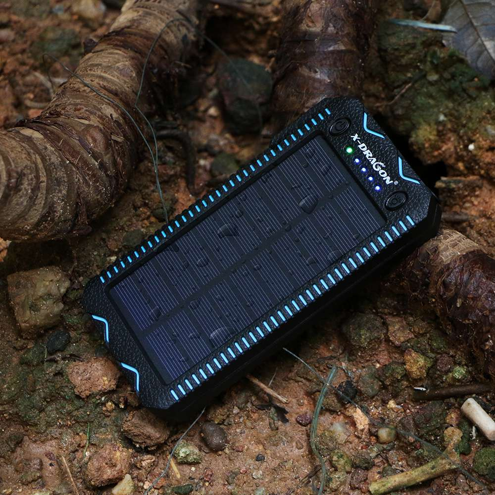 Waterproof Solar Power Bank with Cigarette Lighter and Dual USB Output Ports for Smartphone Charging 10