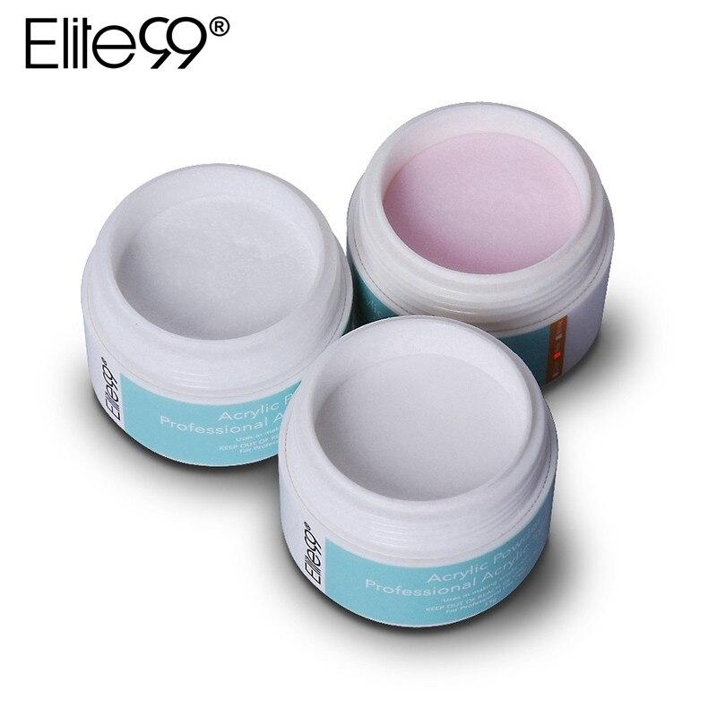 Elite99 Профессиональный акриловый порошок кристаллический дизайн ногтей наконечник строитель прозрачный порошок Кристальный жидкий Маникюр розовый, белый, прозрачный 15 г acrylic powder professional acrylic powdercrystal powder   АлиЭкспресс